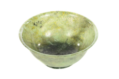 Chinese vintage Spinach Jade Bowl