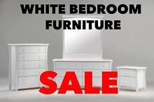 WHITE BEDROOM FURNITURE - HUGE CLEARANCE Auburn Auburn Area Preview