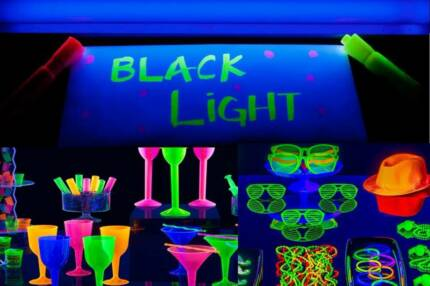 UV Blacklight Party light 600mm (2 foot) with pwr lead GLOW FUN!