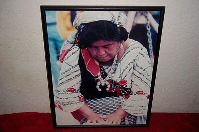 Mexican Restaurant Furniture Decor Framed Picture Lady Women Cooking Mexico 20