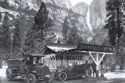 1920 YOSEMITE NATIONAL PARK GAS STATION 8x12 PHOTO TRUCK ANSEL ADAMS AMERICANA