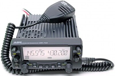 ALINCO DR-735E VHF/UHF Twin Band Transceiver mit einfachem Mike EMS-78