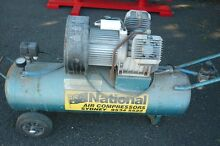 Old style heavy duty twin cylinder compressor Horsley Wollongong Area Preview