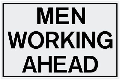 Traffic Sign Men Working Ahead 24 Length X 18 Height Reflective Aluminum