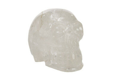 Vintage Rock Crystal Sculpture of a Skull