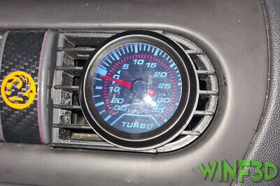 Vauxhall Opel Corsa C Central Boost Gauge Air Vent Pod (Fitment for 52mm Gauges)