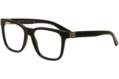Versace Men's Eyeglasses VE3243 3243 GB1 Black/Gold Full Rim Optical Frame 55mm