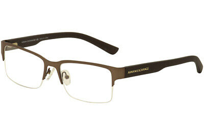 c8808a2fa23 Armani Exchange Eyeglasses AX 1014 6058 Satin Brown Half Rim Optical Frame  53mm