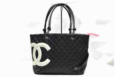 Chanel Tote Bag CambonLine Black Lamb Skin 1804358