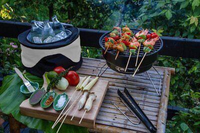 Barbacoa y Nevera Portátil |BBQ Max| 2 en 1 | Camping -...