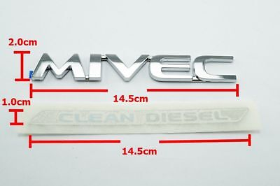 Set Genuine plate tailgate logo emblem CLEAN DIESEL MIVEC Mitsubishi Triton 2018