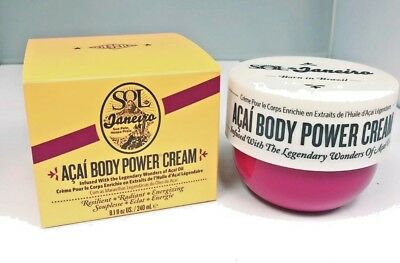 Sol de Janeiro Acai Oil Body Power Cream 8.1 oz. 240 Ml Full Size Nib Brazilian Full Body Cream