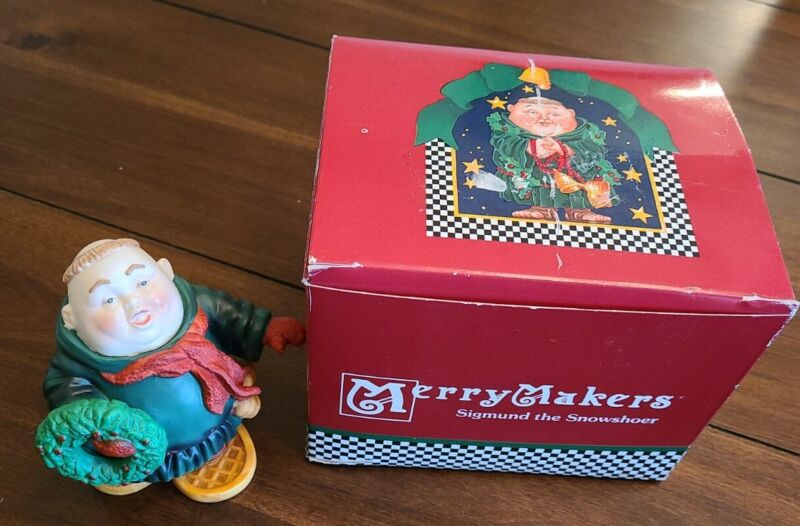 Department 56 Merry Makers Sigmund the Snowshoer Figurine With Box