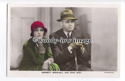 b4121 - Film Actress Edna Best & Actor Herbert Marshall - Film Partner postcard ()