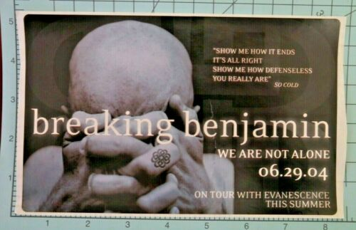 Breaking Benjamin - We are not alone - rock, metal, album give away sticker