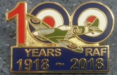 new design royal air force  100 years lapel badge RAF Aerial warfare spitfire