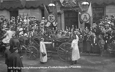 Gloucester Royal Visit Royalty 1909  RP old PC used