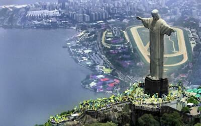 CHRIST THE REDEEMER STATUE GLOSSY POSTER PICTURE PHOTO PRINT brazil rio 5026 Christ Redeemer Statue Rio