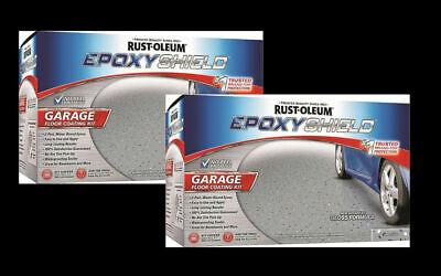 Rustoleum 251965 2 Pack Epoxy Shield Gray Garage Floor Paint Kit