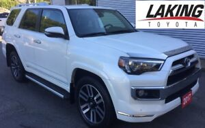 2017 Toyota 4Runner SR5 LIMITED 4X4 LOW KILOMETERS & FACTORY WAR