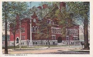 NY - HIGH SCHOOL, NORWICH - WHITE BORDER UNUSED - 1302-15-0082
