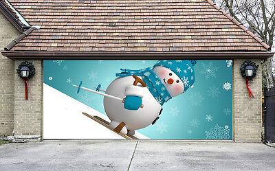 Christmas Garage Door Covers 3D EFFECT Banners Winter Decorations Billboard - Winter Door Decorations