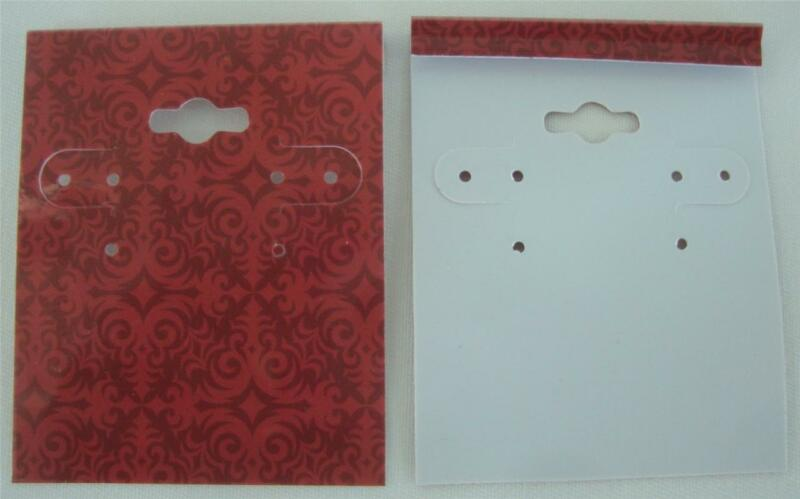 Qty. 25 Exotic Brick Plastic Earring Cards Hold Merchandise Price Tags