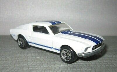 HOT WHEELS 67 FORD MUSTANG GT WHITE PARK N PLATES 1996 5SP wheels opening hood