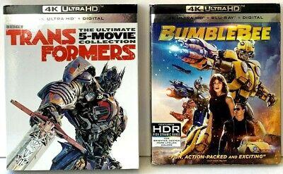 Transformers 5-Movie Collection + BumbleBee : 4K Lot UHD Ultra HD Blu-ray/Bluray