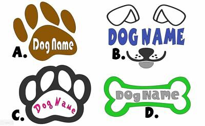 Custom Text Vinyl Lettering Sticker Decal Personalized Dog House Dog Bowl Name
