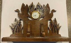 Wooden Duck Themed Clock