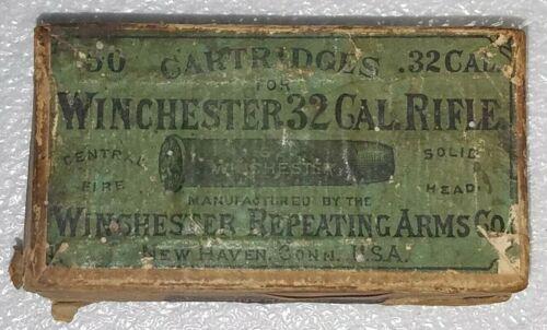 Vintage Winchester 32 Rifle Cartridge Box (Empty) Very Nice