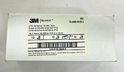 12-roll 3m Scotch 12 X 18 Yd 969 Atg Adhesive Transfer Tape