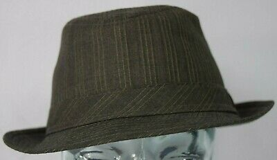 Peter Grimm Polyester Fedora Pinstriped Fashion Unisex Hat Cap Pattern (Peter Grimm Fedora)