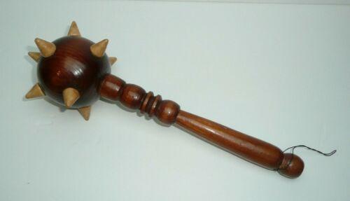 Decorative Wooden Morningstar Spiked Mini Mace Weapon Piece Shelf Decoration