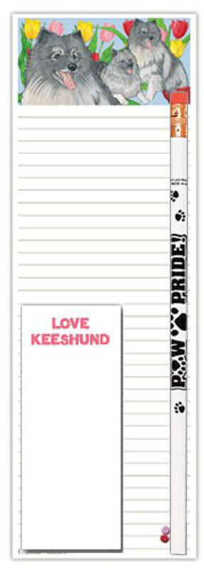 Keeshond Notepad & Pencil Gift Set