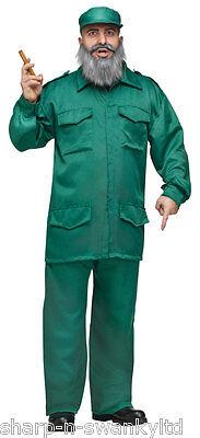 Mens Fidel Castro Cuban Dictator Army Military Fancy Dress Costume - Castro Costume