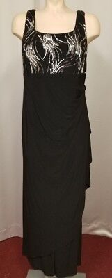 Black and silver sequin evening gown Halloween costume 14W