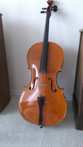 Cello with case and bow for sale