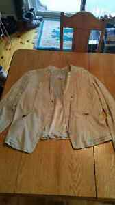Tan Colored Leather Jacket