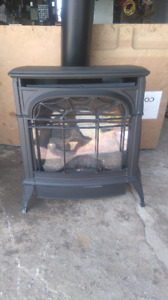 Gravity Vent Natural Gas Free Standing Fireplace