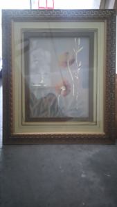 Framed Chinese Oil Painting / PeintureChinois a l'huile cadree