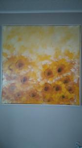 Vintage sunflower art piece