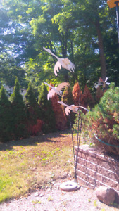 Flying geese lawn ornament