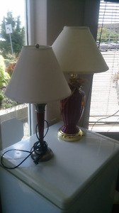 Used table lamps for sale !!