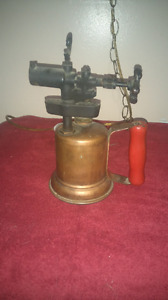 Antique soldering blow torch