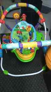infant exersaucer and chair.
