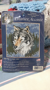 Wolf themed Needlepoint