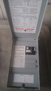 Outdoor Pool or Hot Tub Box with 50 amp GFI GFCI breaker