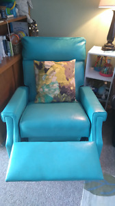 Vintage turquoise recliner for sale